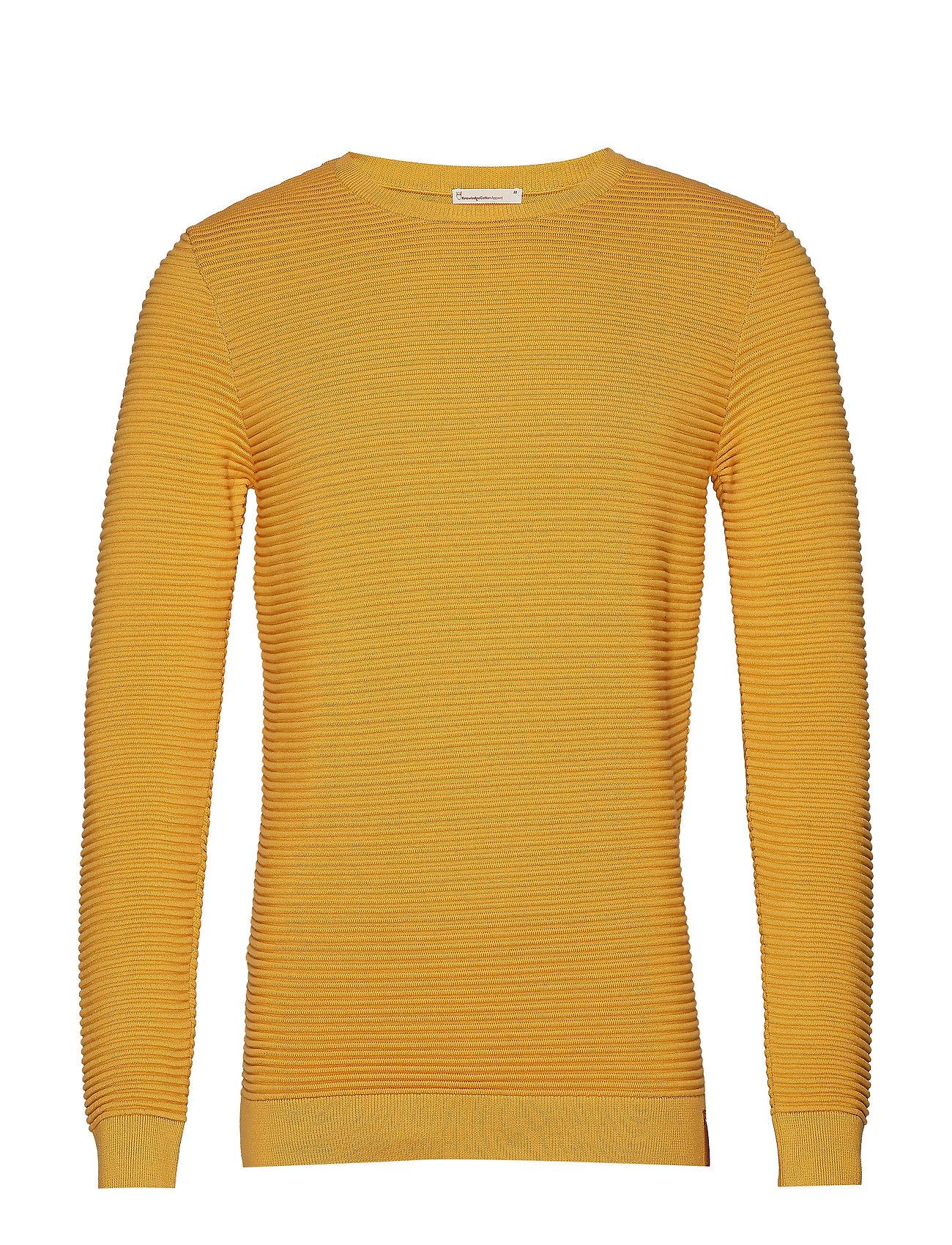 Knowledge Cotton Apparel FIELD o-neck knit - BANANA