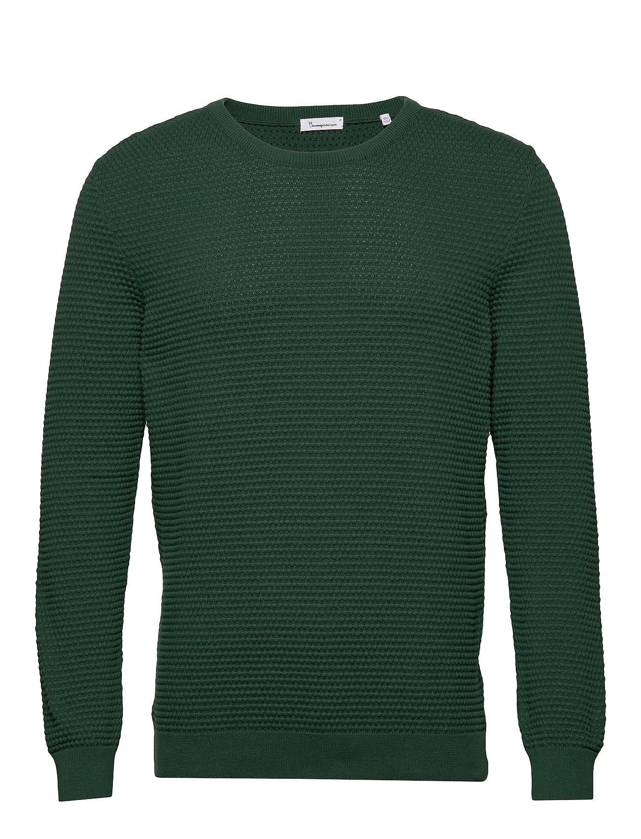 Knowledge Cotton Apparel FIELD o-neck sailor knit - GOTS/Veg - PINENEEDLE