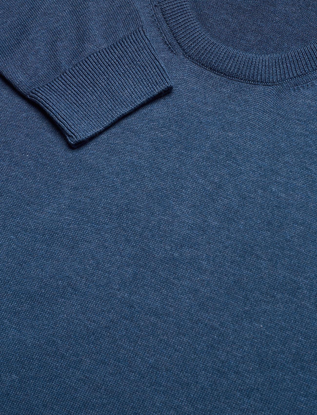Knowledge Cotton Apparel - FIELD O-neck long stable cotton kni - podstawowa odzież z dzianiny - dark denim - 2