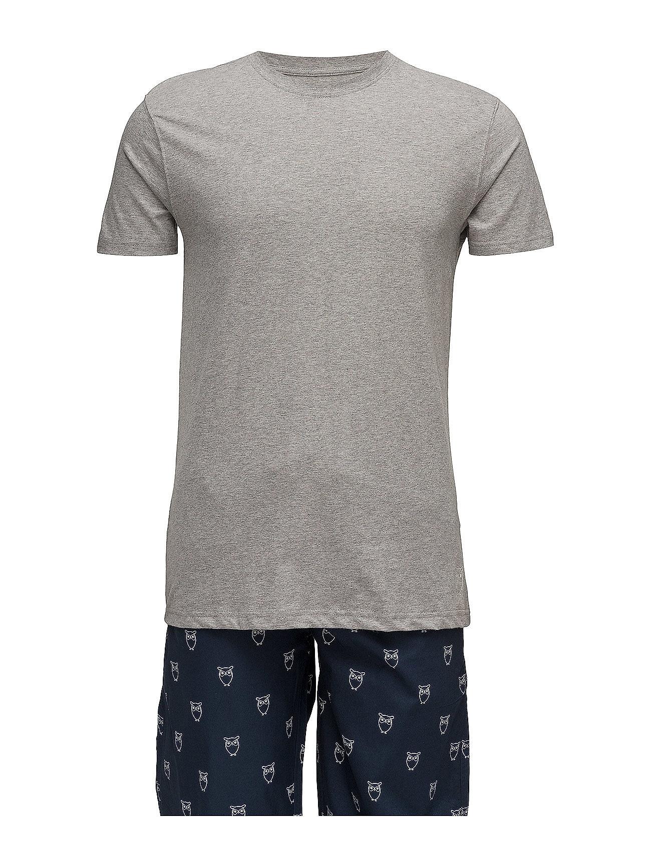 Knowledge Cotton Apparel Pyjamas Set GOTS Sov & loungeplagg