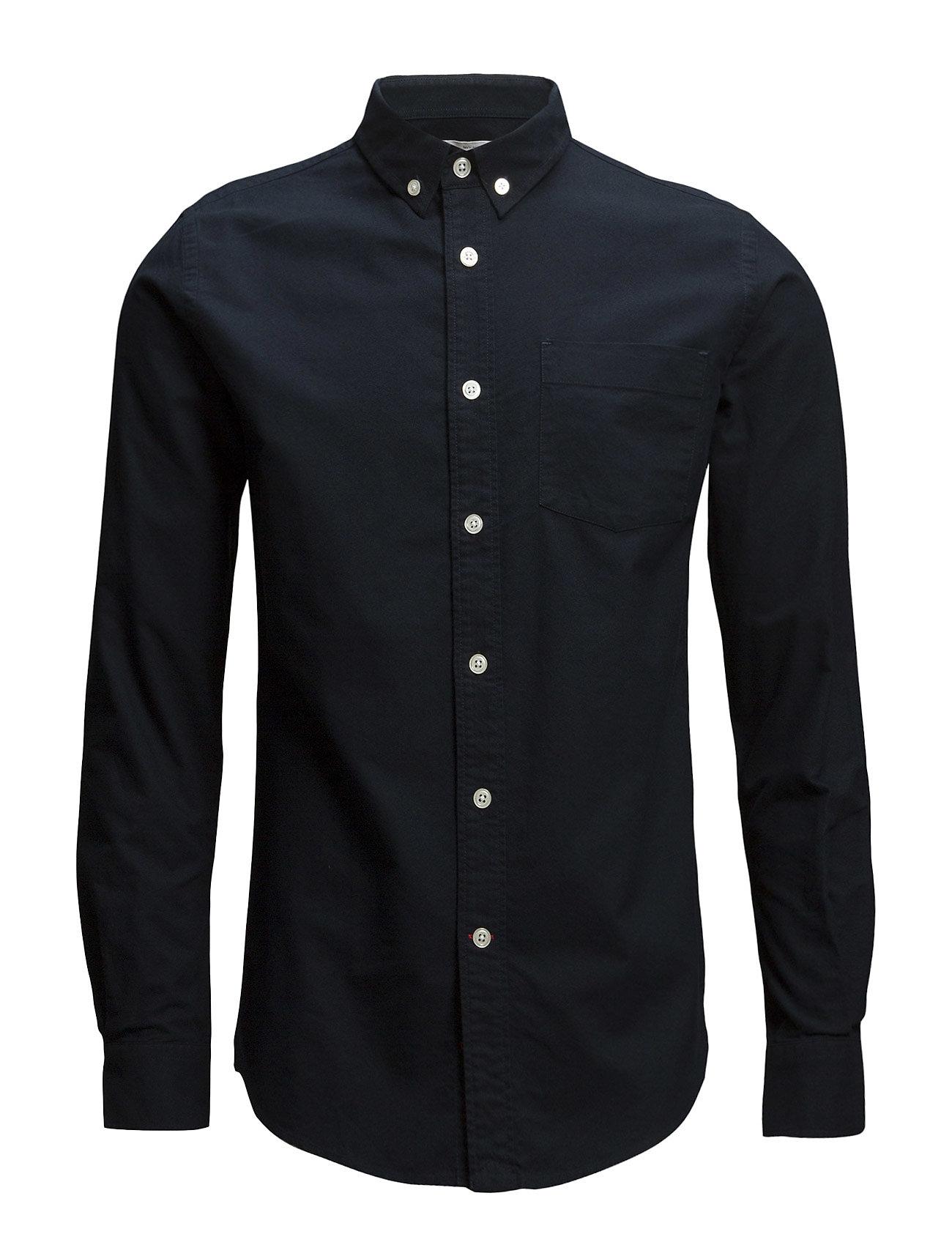 Knowledge Cotton Apparel Button Down Oxford Shirt - GOTS/Veg - TOTAL ECLIPSE