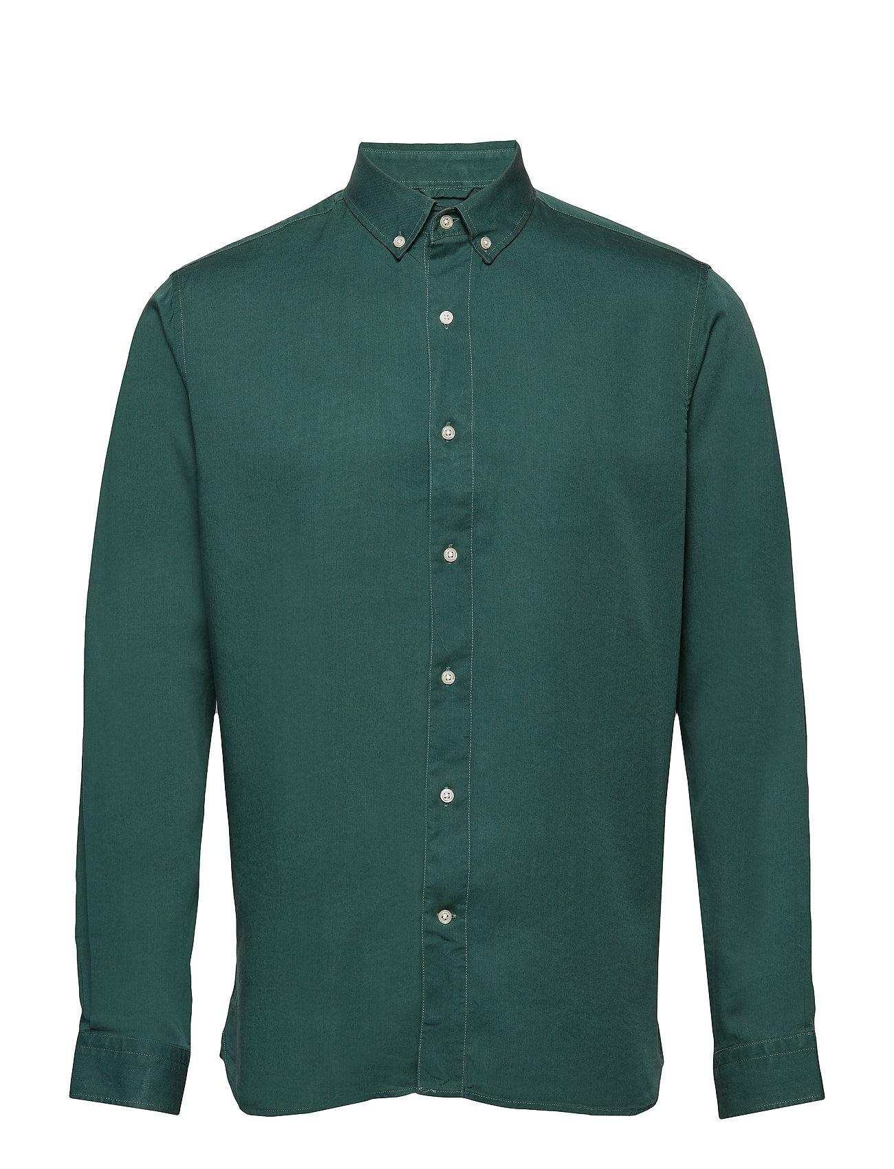Knowledge Cotton Apparel Tencel shirt/Vegan - BISTRO GREEN