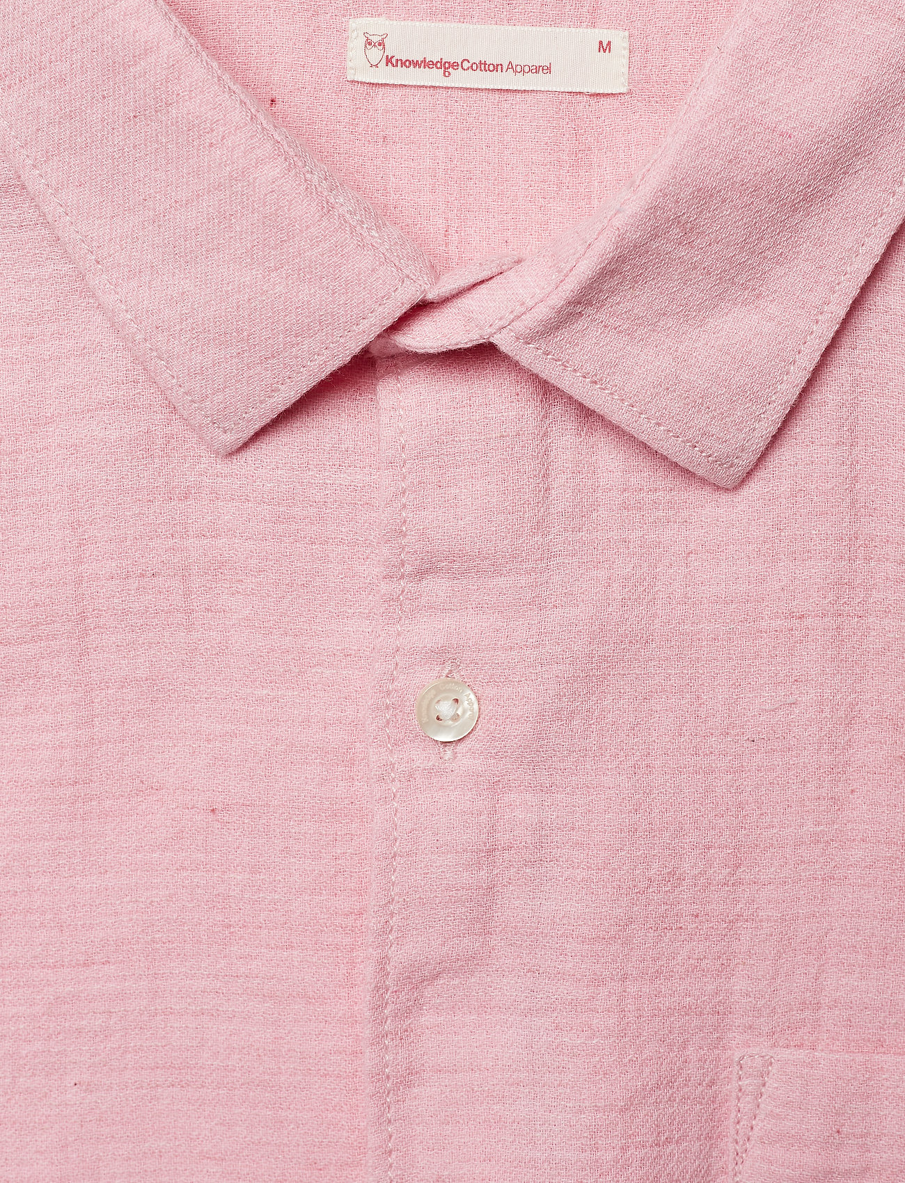 Knowledge Cotton Apparel Double Layer Shirt - Gots Skjortor Pink Nectar