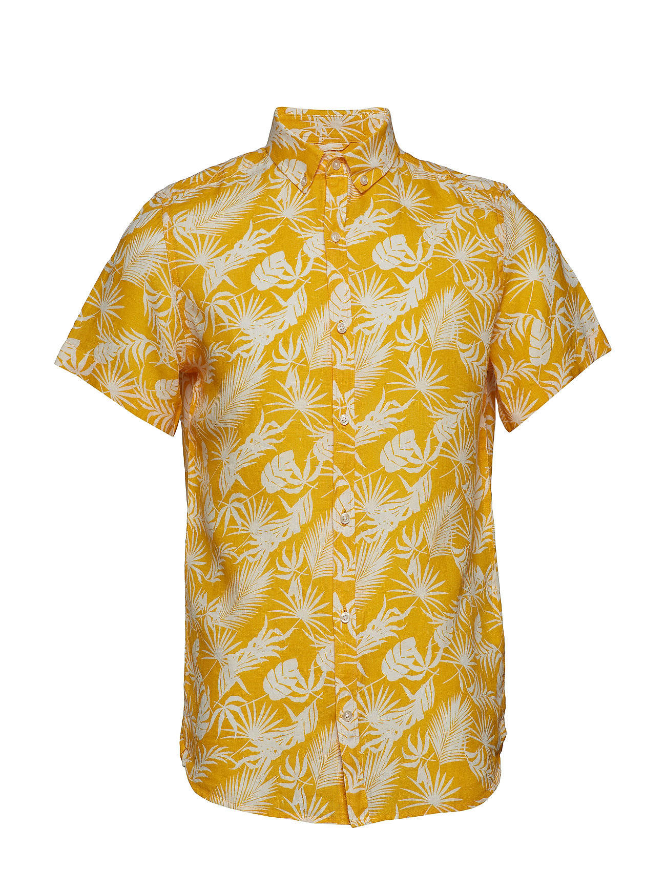 Knowledge Cotton Apparel Linen short sleeve shirt with all o - BANANA