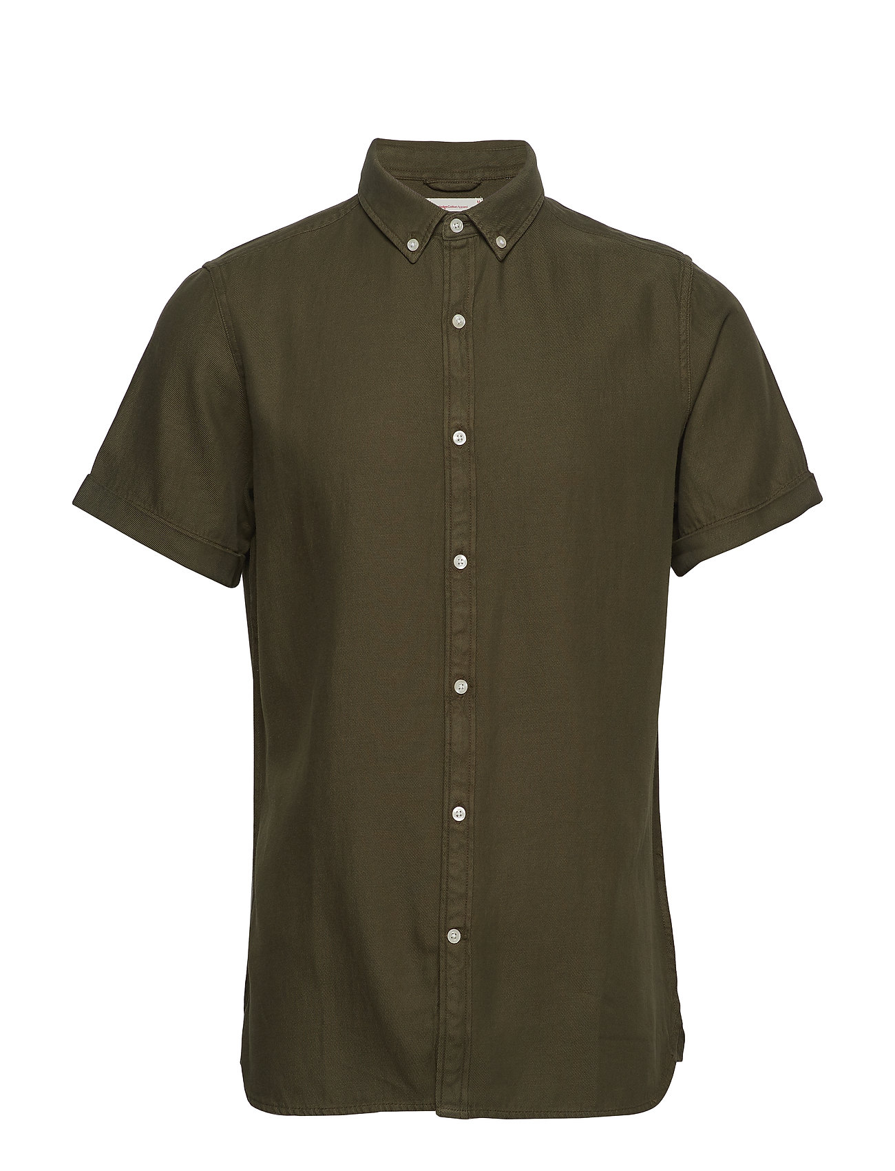 Knowledge Cotton Apparel Short sleeve twill shirt/Vegan