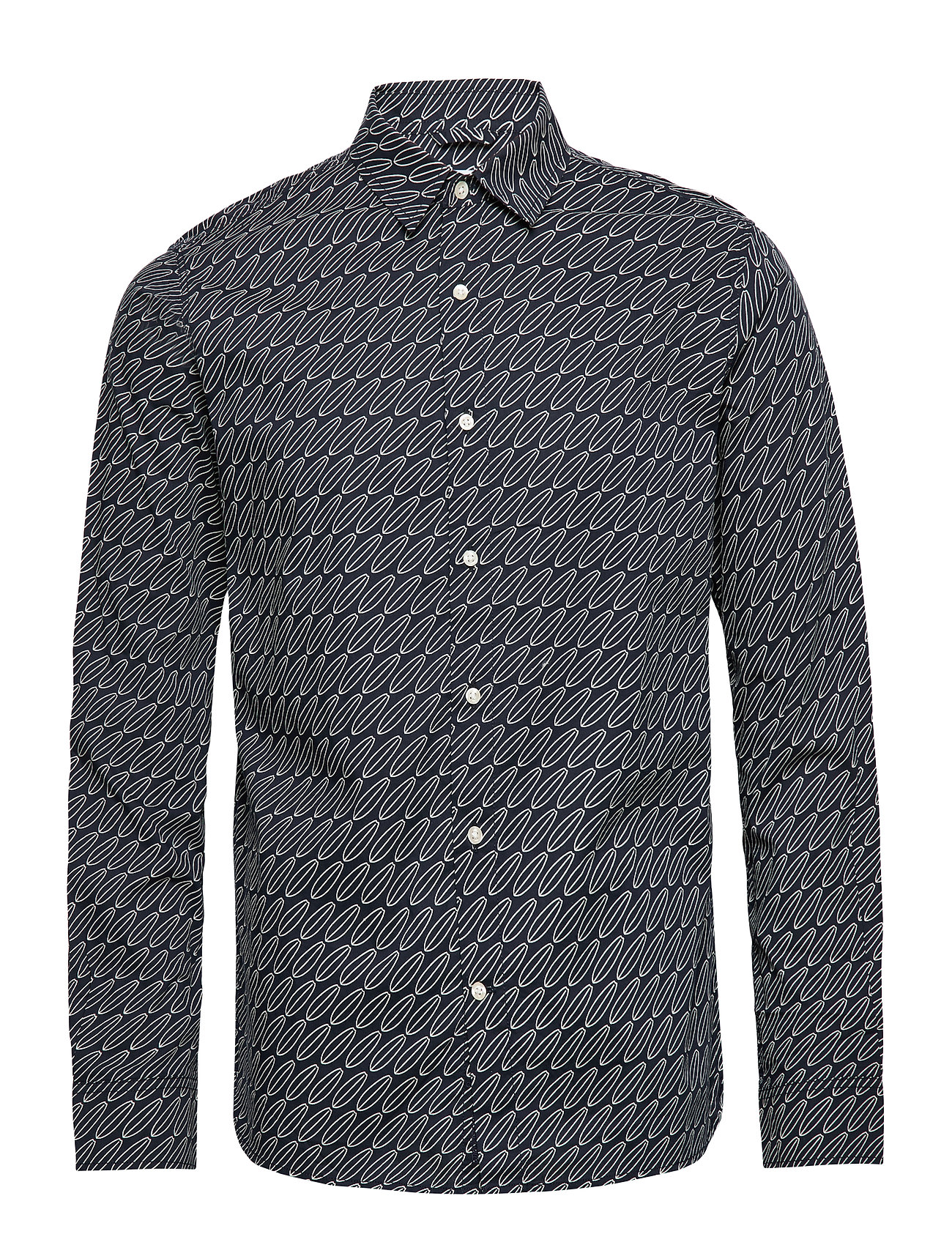 Knowledge Cotton Apparel Long sleeve poplin shirt with AOP - - TOTAL ECLIPSE