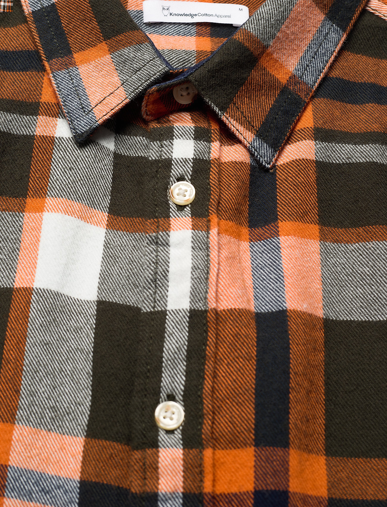 Knowledge Cotton Apparel - LARCH casual fit checked flannel sh - denim overhemden - forrest night - 2