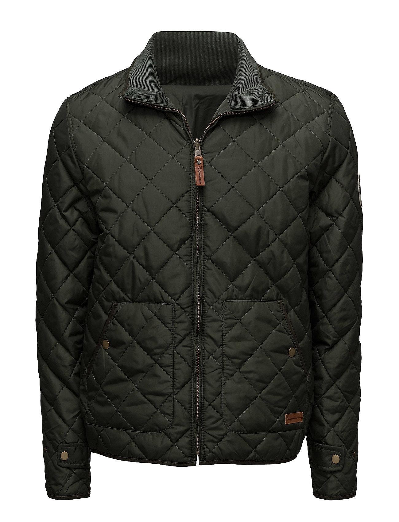 Knowledge Cotton Apparel PET Light Jacket Reversible - GRS/V - FORREST NIGHT
