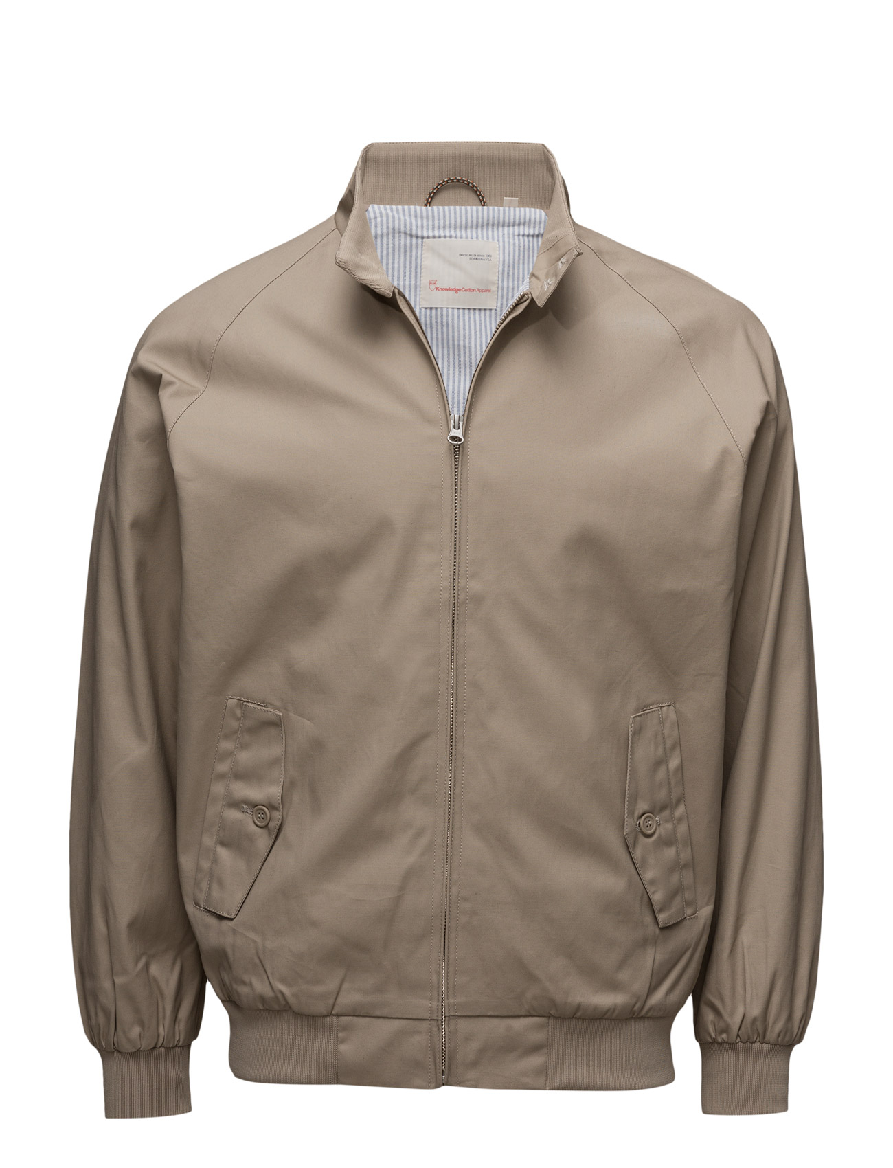 Catalina Jacket W/Stripped Oxford L - Knowledge Cotton Apparel