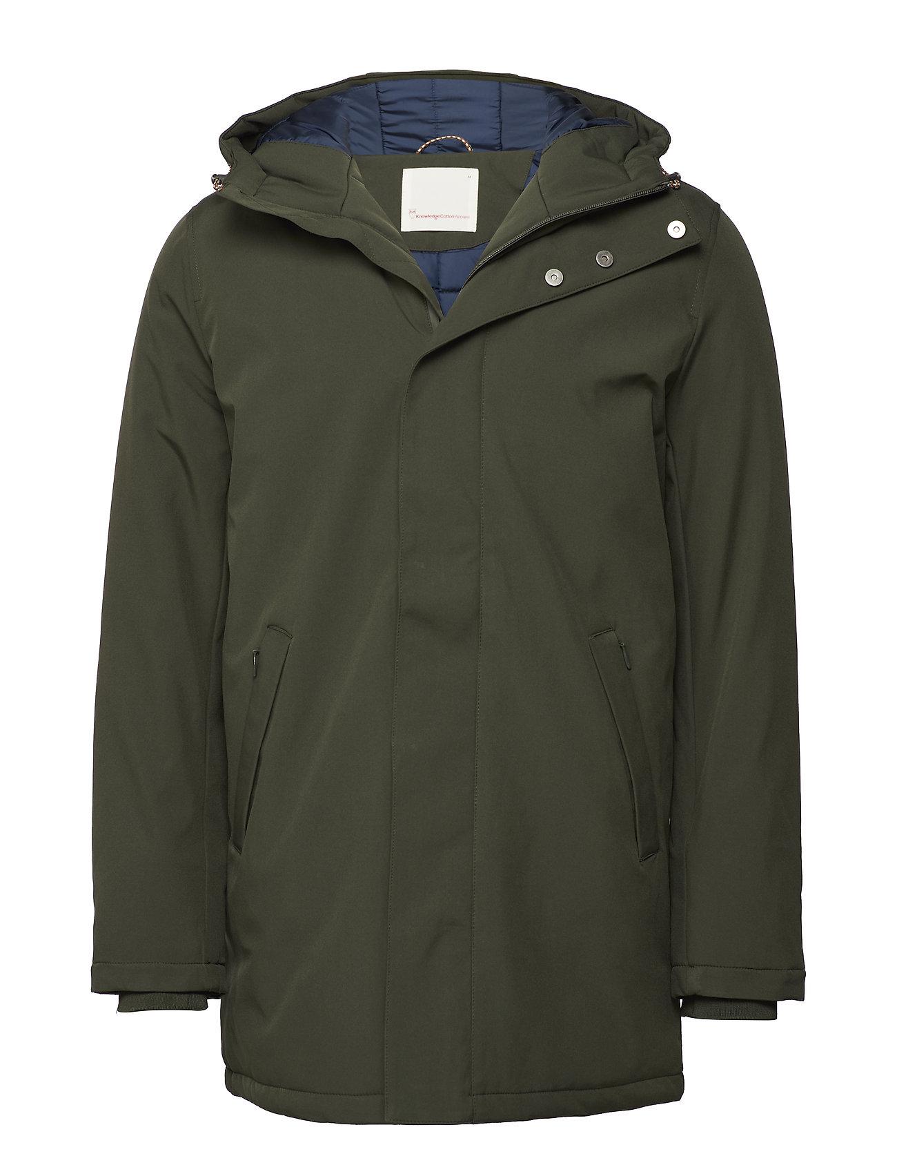 Knowledge Cotton Apparel Long Soft Shell Quilted Jacket GR Ytterkläder
