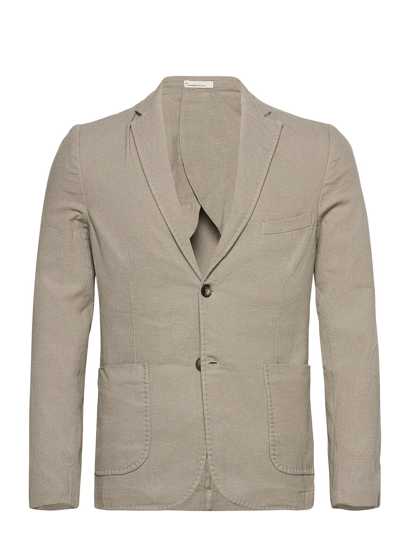 Image of Structured Blazer Blazer Jakke Beige Knowledge Cotton Apparel (3472134693)