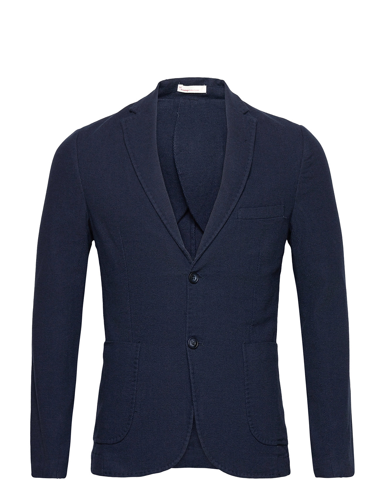 Image of Structured Blazer Blazer Jakke Blå Knowledge Cotton Apparel (3472134691)