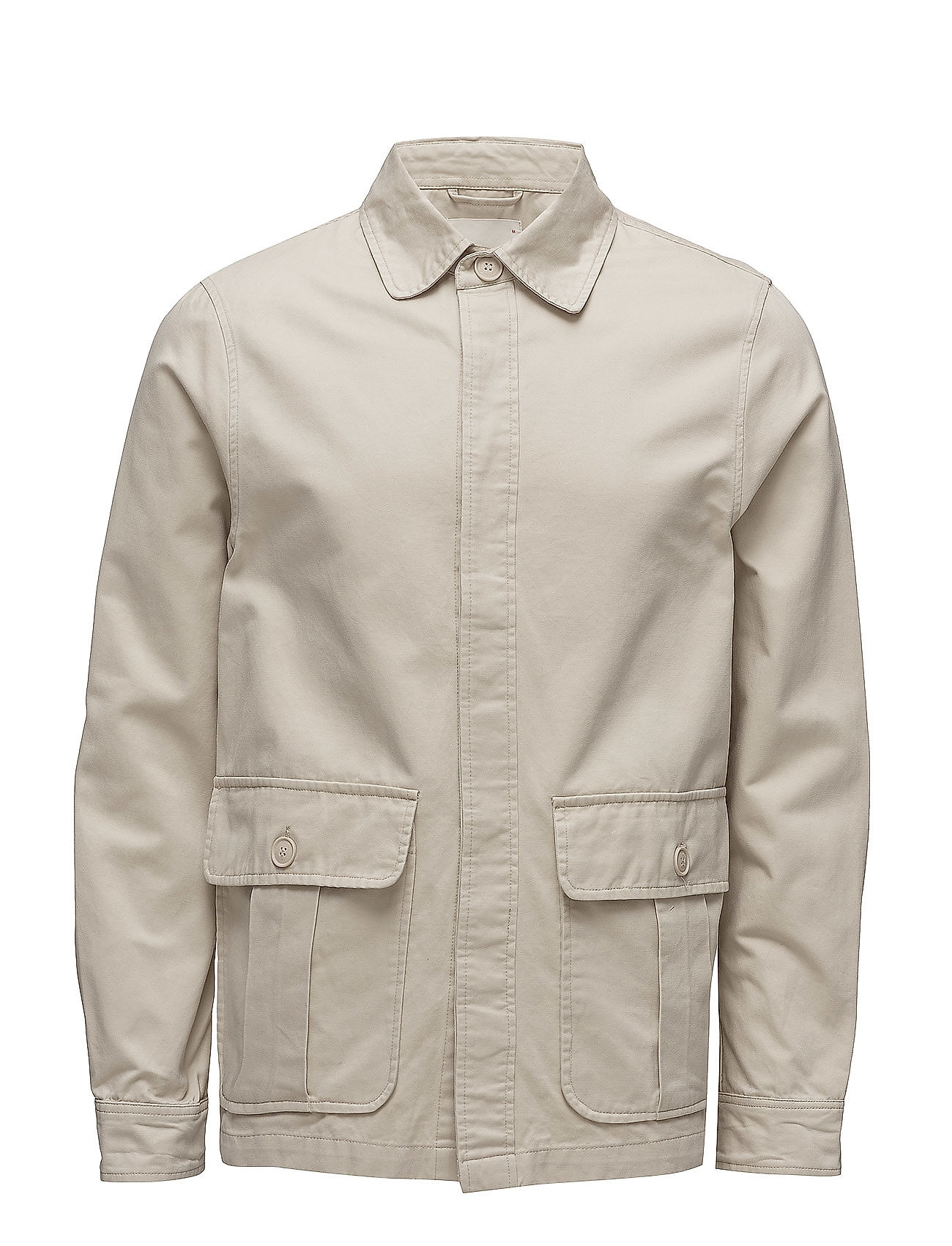 Knowledge Cotton Apparel Twill short jacket - LIGHT FEATHER GRAY