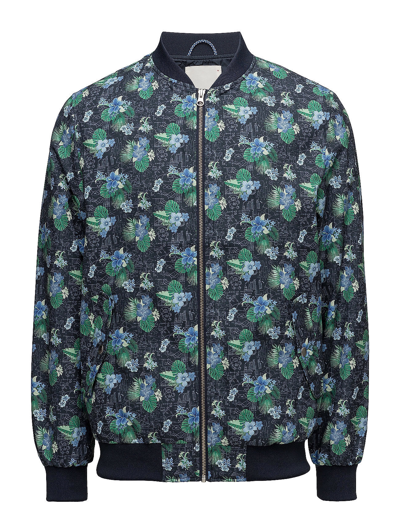 Knowledge Cotton Apparel Pilot jacket with print GRS Ytterkläder