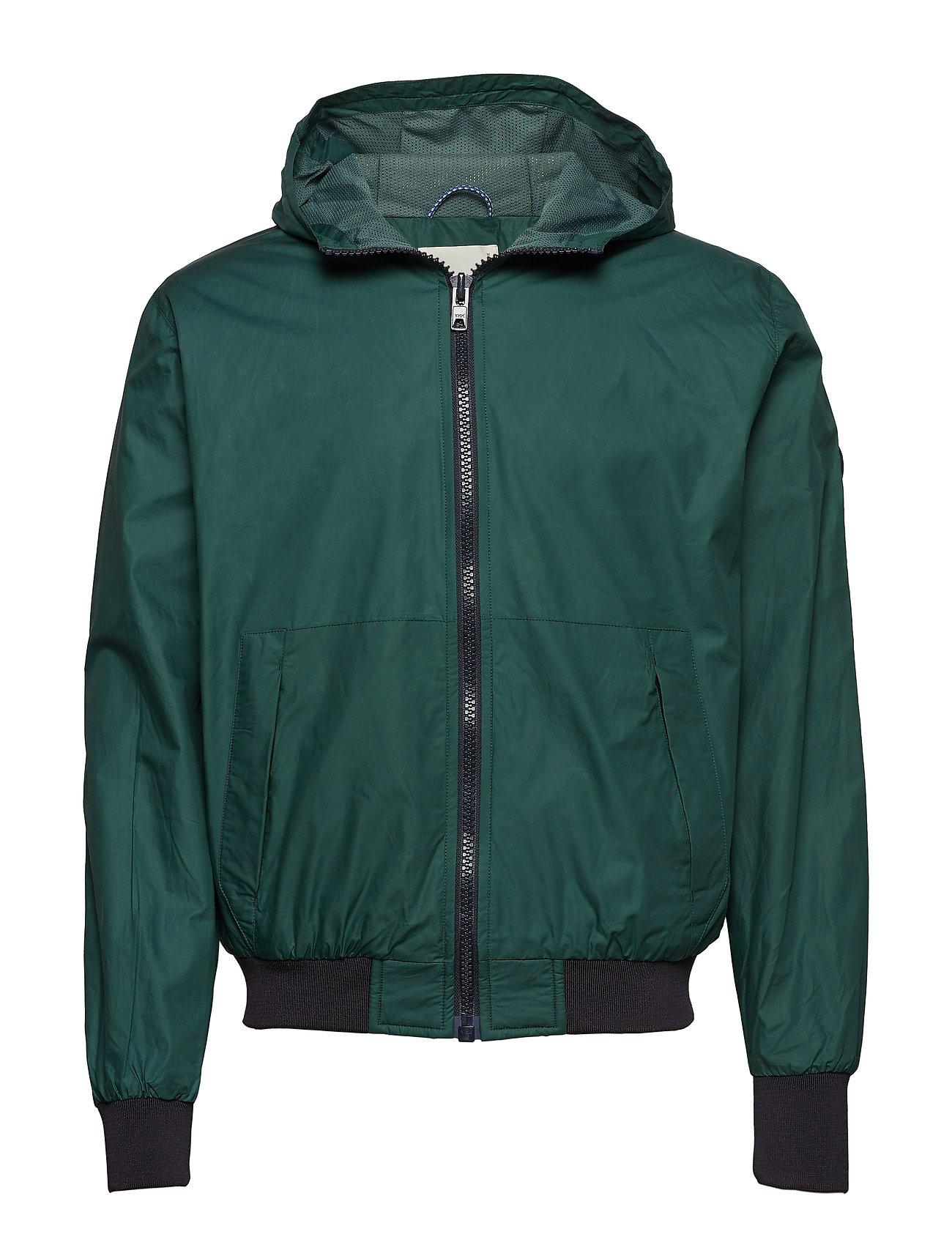 Basswood Hood Jacket Tynd Jakke Grøn Knowledge Cotton Apparel