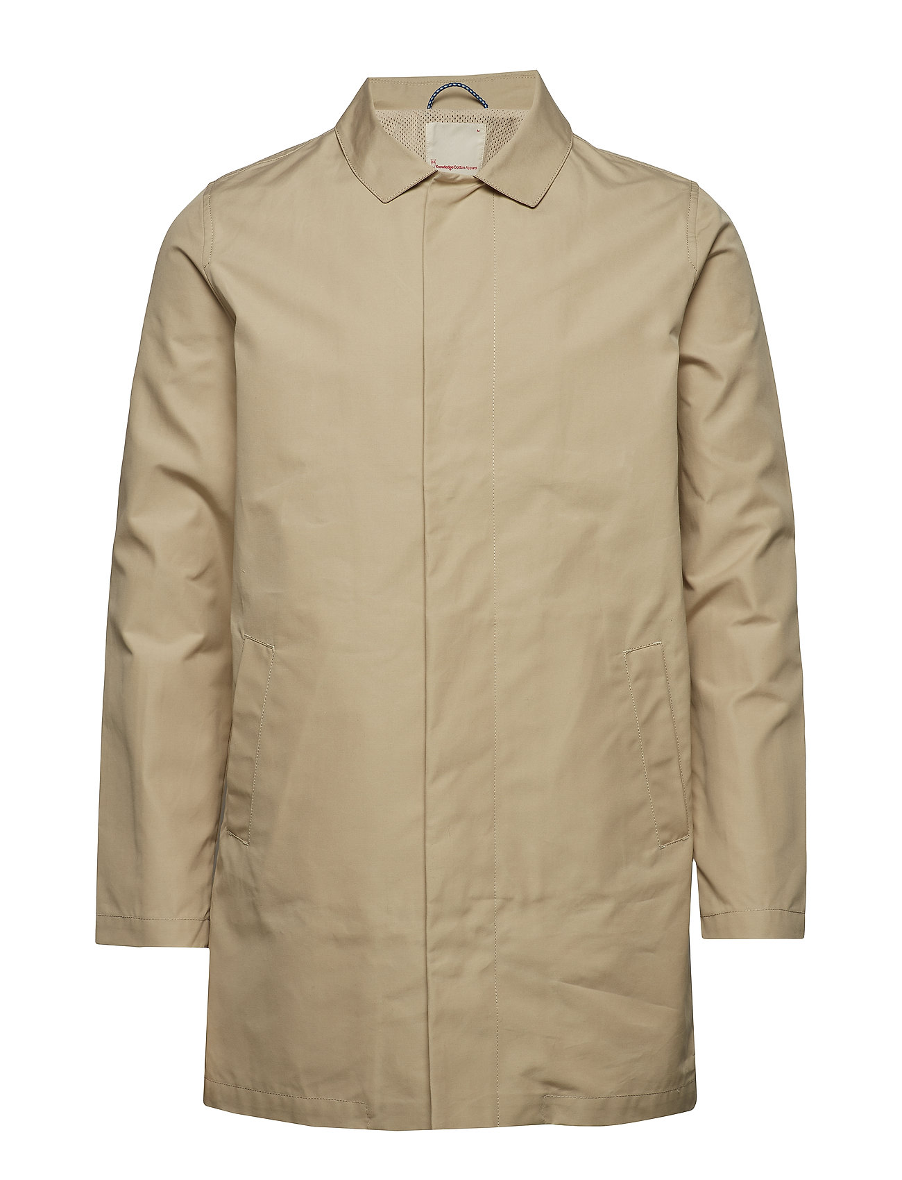 Knowledge Cotton Apparel Funtional carcoat jacket - GOTS/Veg - LIGHT FEATHER GRAY