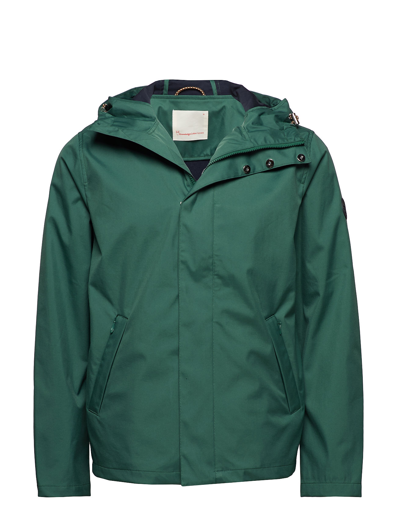 Soft Shell Hood Jacket OcsVegan Tynd Jakke Grøn Knowledge Cotton Apparel