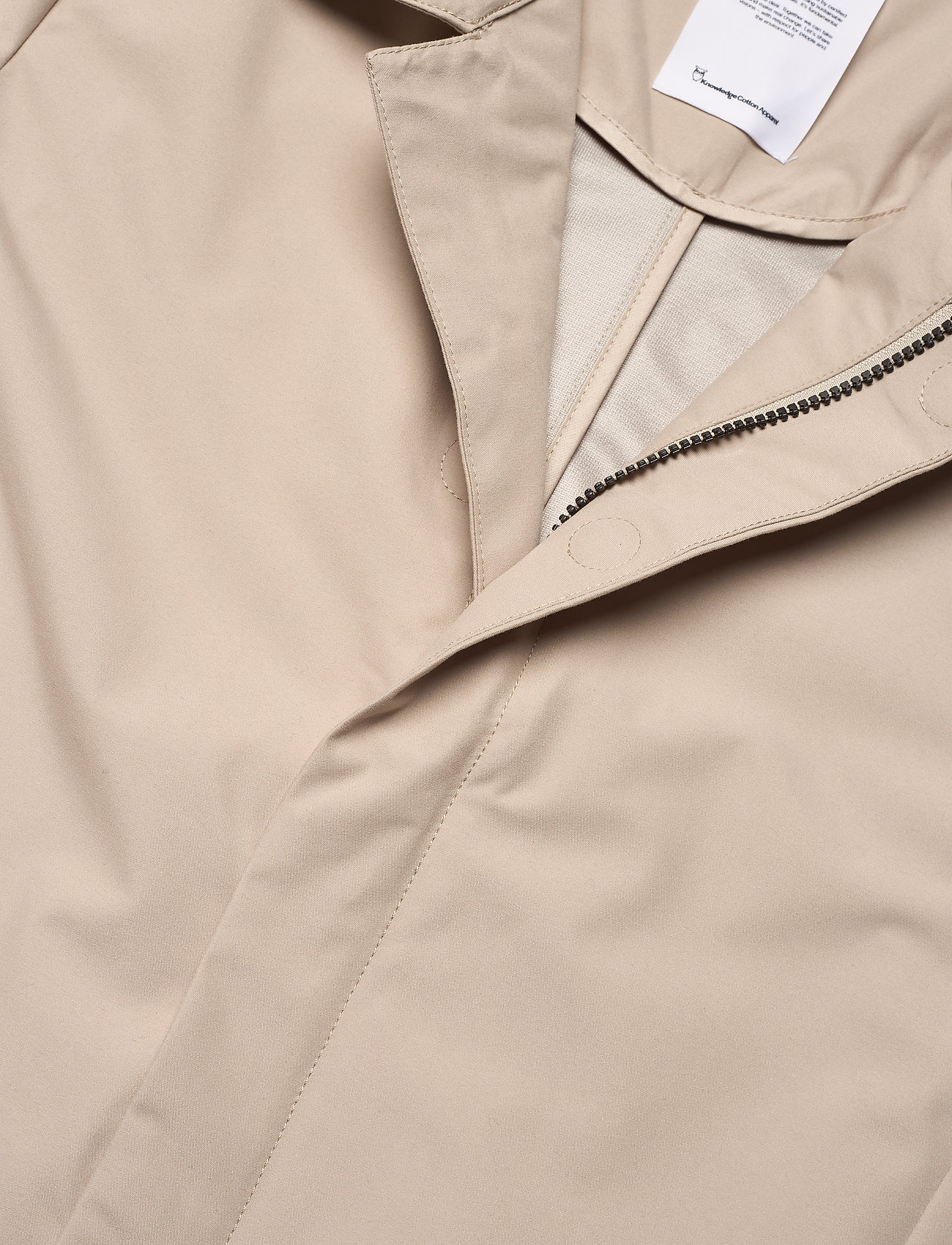Knowledge Cotton Apparel - Urban Awareness long jacket - Vegan - manteaux legères - light feather gray - 2