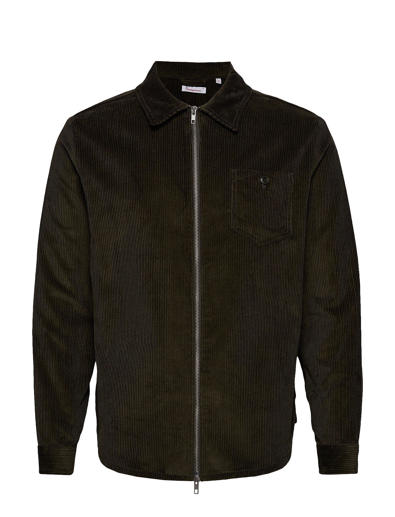 Knowledge Cotton Apparel 8 Wales Corduroy overshirt - GOTS/V - FORREST NIGHT