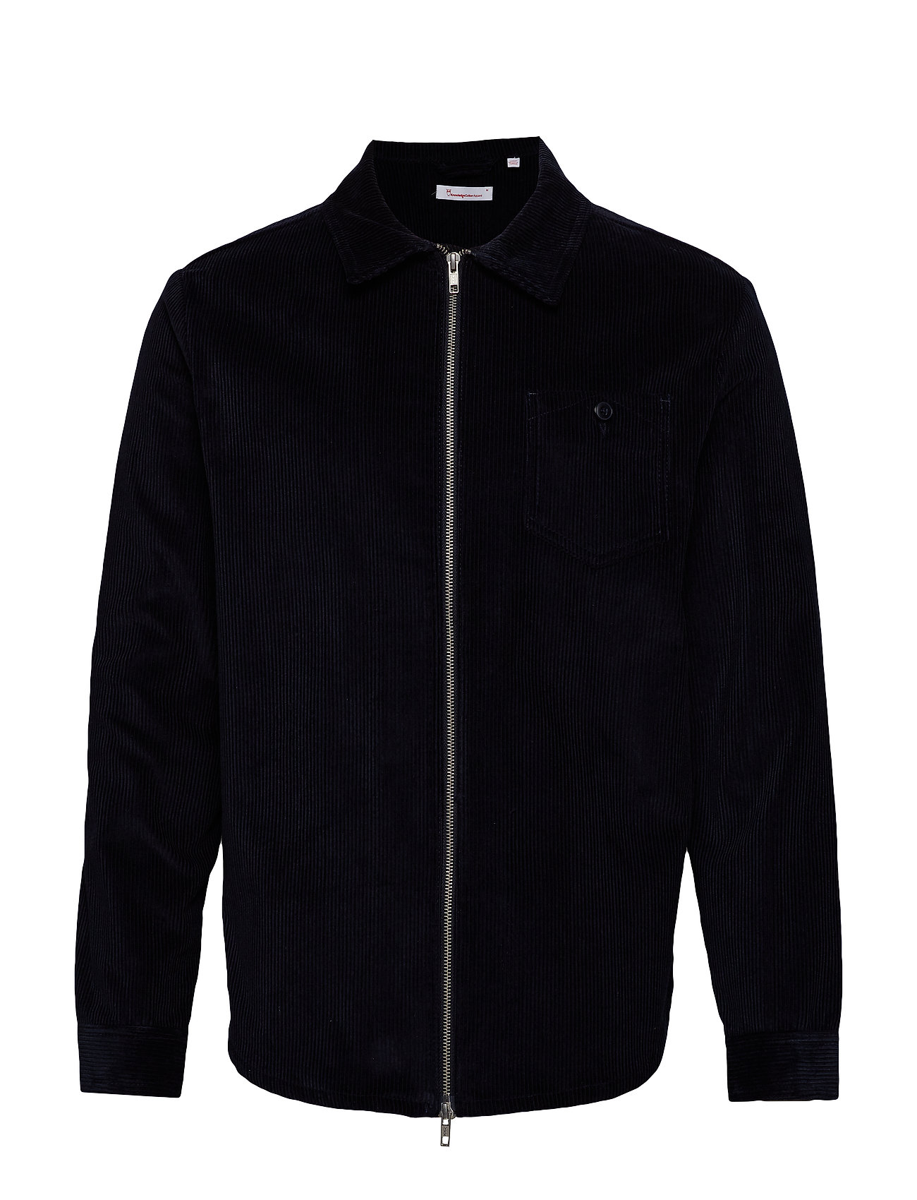 Knowledge Cotton Apparel 8 Wales Corduroy overshirt - GOTS/V - TOTAL ECLIPSE