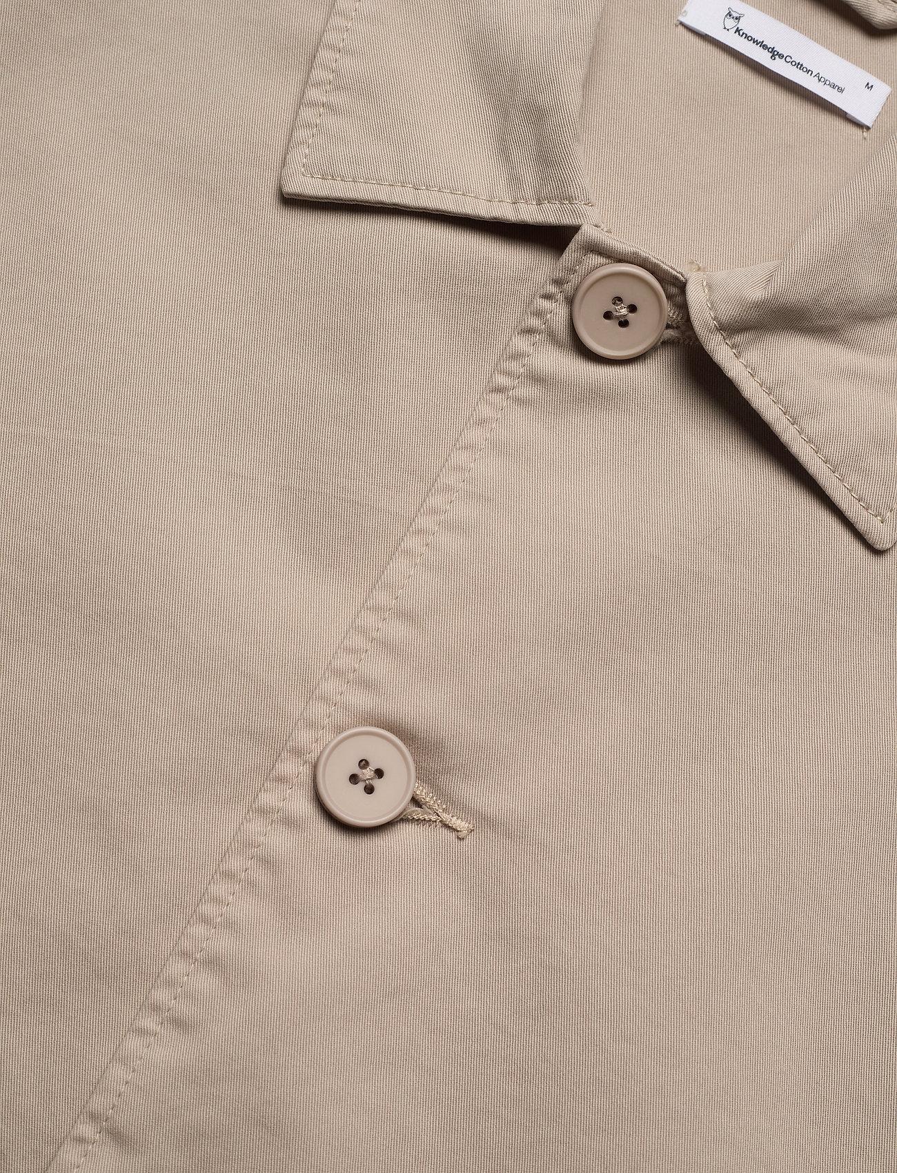 Knowledge Cotton Apparel - PINE poplin overshirt - GOTS/Vegan - vêtements - light feather gray - 2