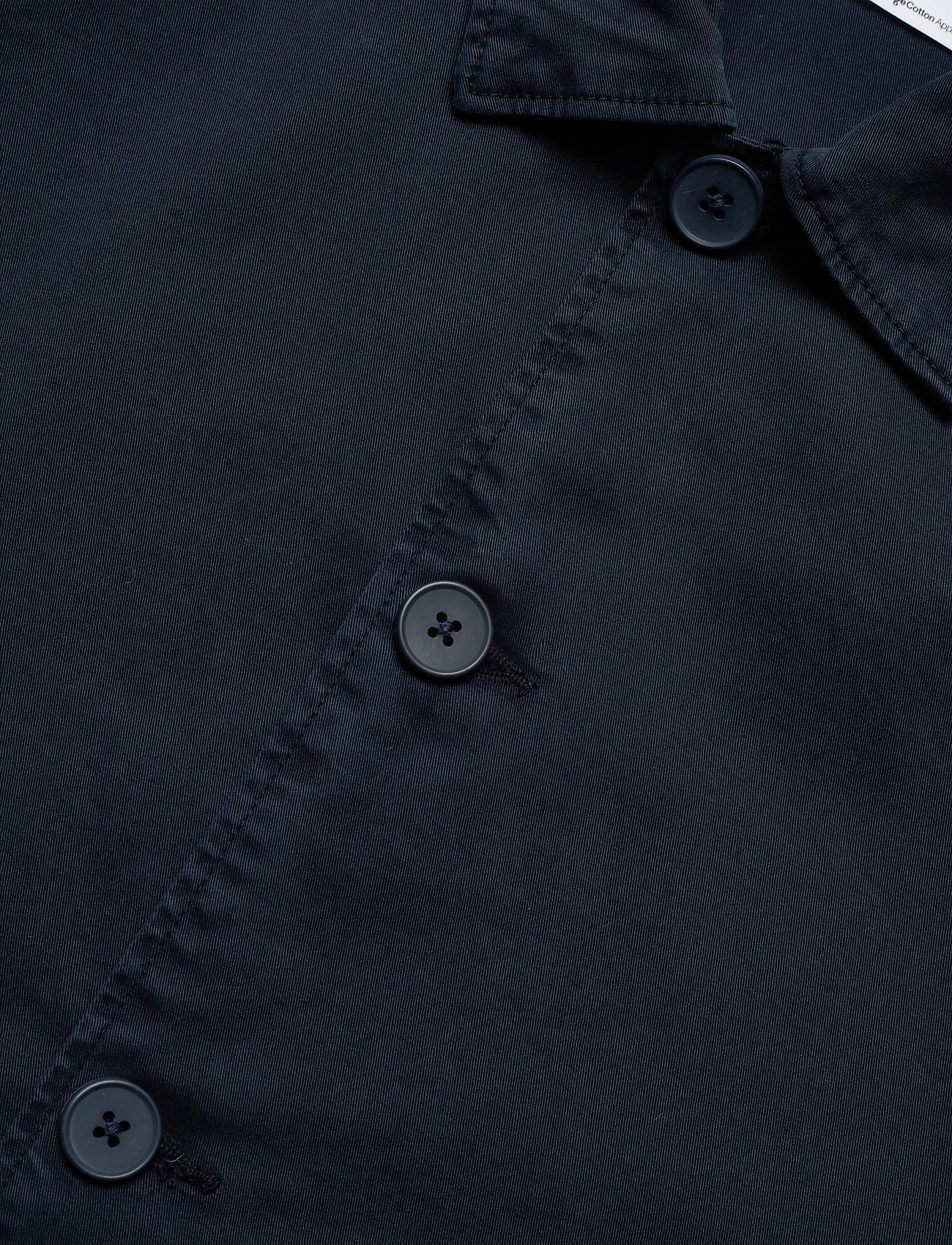 Knowledge Cotton Apparel - PINE poplin overshirt - GOTS/Vegan - vêtements - total eclipse - 2
