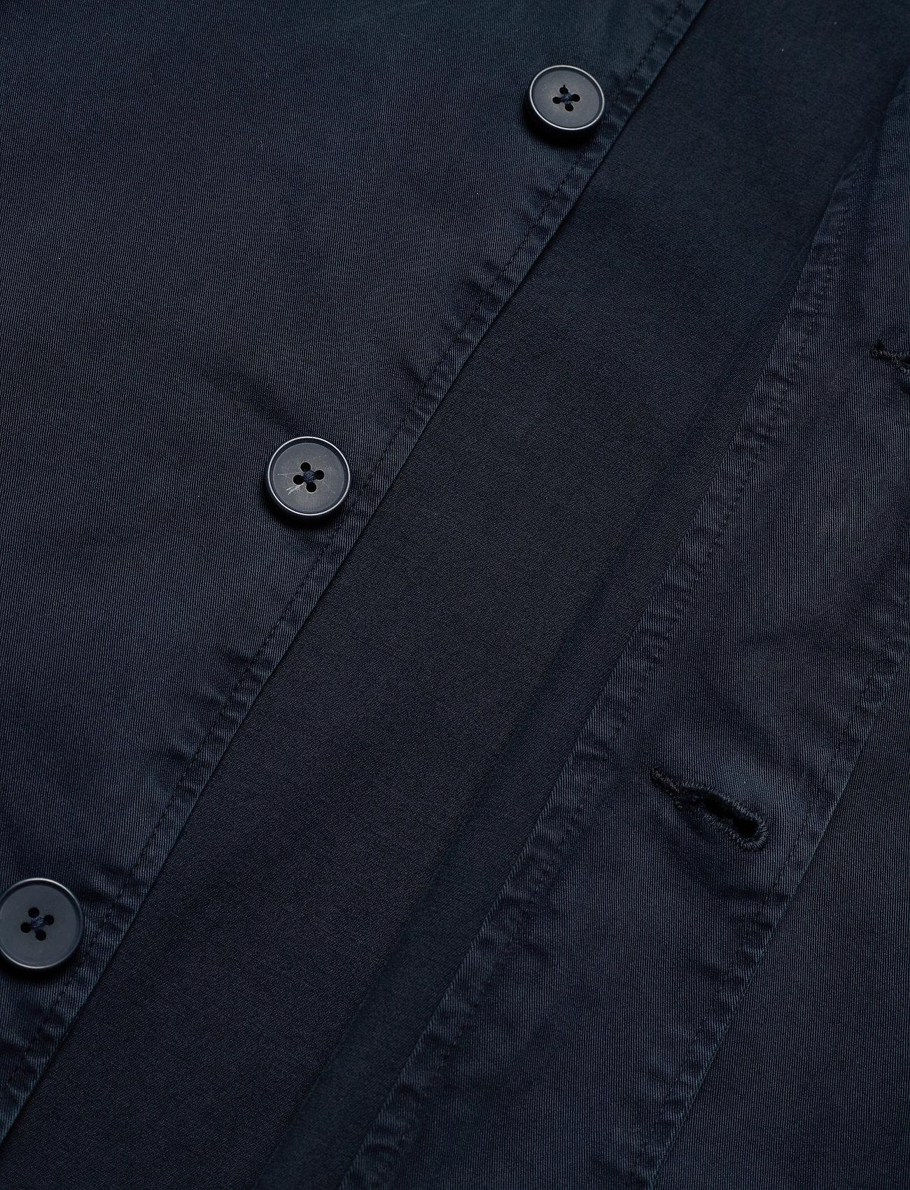 Knowledge Cotton Apparel - PINE poplin overshirt - GOTS/Vegan - vêtements - total eclipse - 4