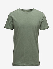 Knowledge Cotton Apparel - ALDER basic tee - GOTS/Vegan - kortärmade t-shirts - gren melange - 0