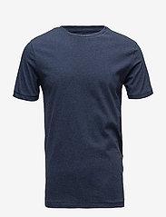 Knowledge Cotton Apparel - ALDER basic tee - GOTS/Vegan - basic t-krekli - insigna blue melange - 0