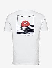 Knowledge Cotton Apparel - ALDER tee w/sun print at back - GOT - podstawowe koszulki - bright white - 1