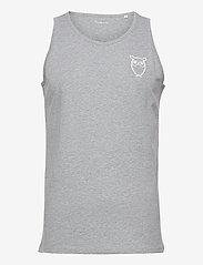 PALM owl chest tank top - GOTS/Vega - GREY MELANGE