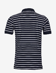 Knowledge Cotton Apparel - ROWAN striped polo - GOTS/Vegan - lyhythihaiset - total eclipse - 1