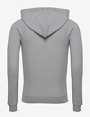 Knowledge Cotton Apparel - ELM small owl hoodie sweat - GOTS/V - basic sweatshirts - grey melange - 1