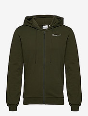 Knowledge Cotton Apparel - ELM knowledge transfer hood zip swe - basic sweatshirts - forrest night - 0