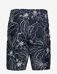 Knowledge Cotton Apparel - SEA flower swimshorts - badehosen - total eclipse - 1