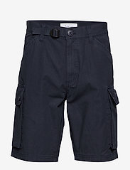Knowledge Cotton Apparel - TREK durable rib-stop shorts - GOTS - cargo shorts - total eclipse - 0