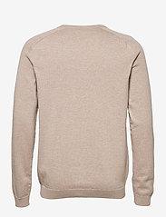 Knowledge Cotton Apparel - FIELD O-neck long stable cotton kni - podstawowa odzież z dzianiny - light feather gray - 1