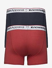 Knowledge Cotton Apparel - Underwear 2pack Solid/Owl GOTS/Vega - boxershortser - pompeain red - 1