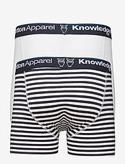 Knowledge Cotton Apparel - MAPLE 2 pack striped underwear - sous-vêtements - total eclipse - 1