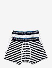 Knowledge Cotton Apparel - MAPLE 2 pack striped underwear - boxershorts - total eclipse - 2