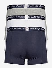 Knowledge Cotton Apparel - MAPLE 3-pack underwear - GOTS/Vegan - boxers - grey melange - 1