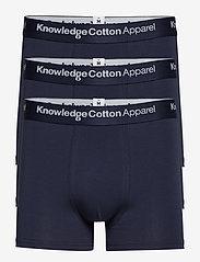Knowledge Cotton Apparel - MAPLE 3-pack underwear - GOTS/Vegan - boxers - total eclipse - 0