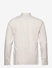 Knowledge Cotton Apparel - ELDER regular fit melange flannel s - lina krekli - greige - 1