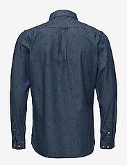 Knowledge Cotton Apparel - Denim shirt with concept print - GO - denim shirts - deep sea - 1