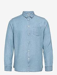 Knowledge Cotton Apparel - ELDER regular fit denim Tencel™ shi - koszule w kratkę - vintage indigo - 0