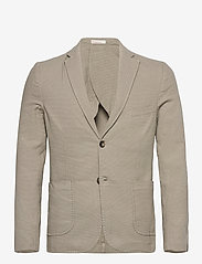 Knowledge Cotton Apparel - Structured blazer - single breasted blazers - feather gray - 0