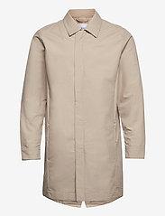 Knowledge Cotton Apparel - Urban Awareness long jacket - Vegan - manteaux legères - light feather gray - 0