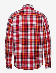 Knowledge Cotton Apparel - PINE LS checked overshirt - GOTS/Ve - overshirts - scarlet - 1