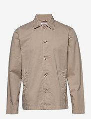 Knowledge Cotton Apparel - PINE poplin overshirt - GOTS/Vegan - kleding - light feather gray - 0