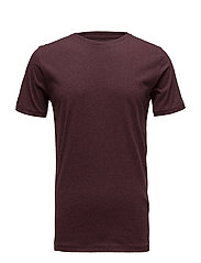 Basic Regular Fit O-Neck Tee GOTS/V - DECADENT CHOKLADE MELANGE